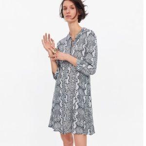NWT Zara Snakeprint Shirt Dress - Size XS